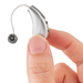 Receiver-In-Canal Hearing Aid with Artificial Intelligence Shown in Hand